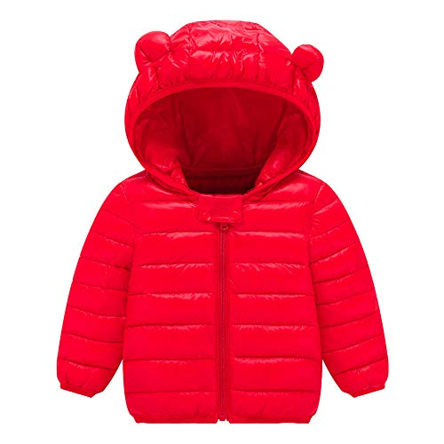VEKDONE Winter Coats Kids Ear Hoods Light Puffer Jacket Baby Boys Girls, Infants, Toddlers -