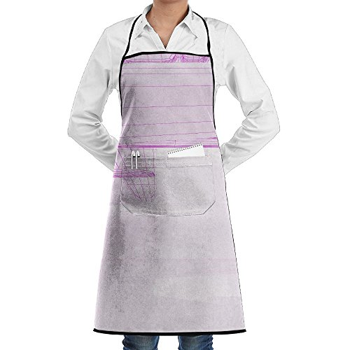 SmallTing Abstract White Interior Highlights Future Polygon Chef Restaurant Black One Size Apron With Pockets Adjustable ()
