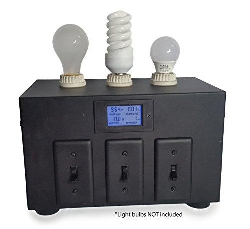 110V AC Educational Light Bulb Comparison Display by Pedal Power Generator