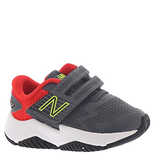 New Balance Rave Run I Boys' Infant-Toddler Running 5.5 XW US Toddler Lead-Flame-Lemon