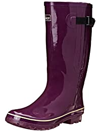 Jileon Extra Wide Calf Rubber Rain Boots for Women-Widest Fit Boots in the US-up to 21 inch calves-Wide in the Foot and Ankle-Durable Boots for All Weathers