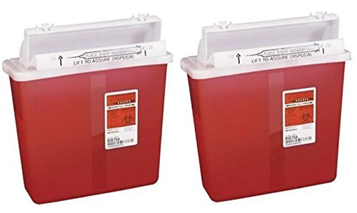 8507SA- Container Sharpstar In-Room Mailbox Lid Red 5qt Ea by, Kendall Company (2) ()