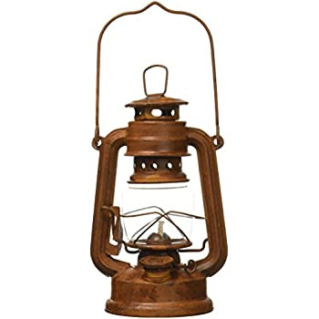 Amazon Com Craft Outlet Tin Oil Lamp 8 Inch Rust Home