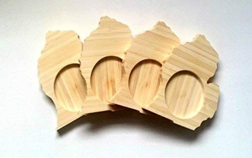 Michigan state shaped bamboo coasters (set of four) - Mitten Made Woodcrafts