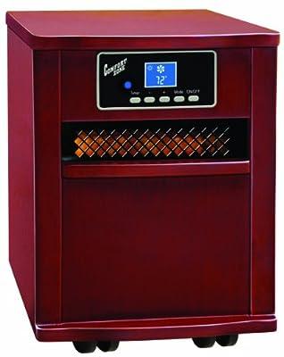 Comfort Zone Infared Quartz Heater Deluxe Wood Cabinet