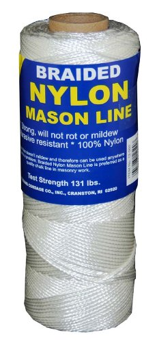 Braided Nylon Twine (T.W Evans Cordage 12-500 Number-1 Braided Nylon Mason Line, 500-Feet)