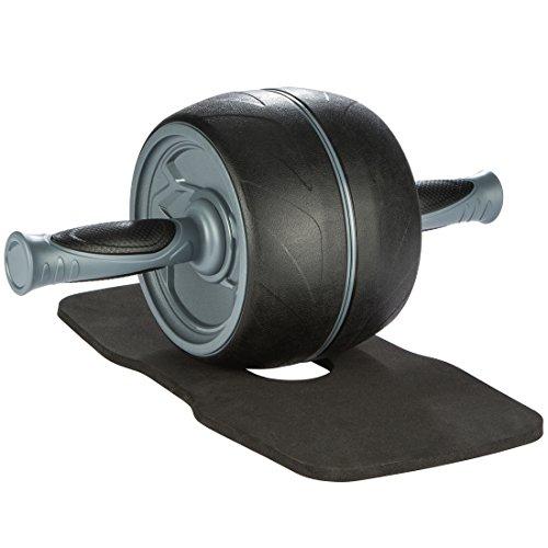Ultrasport AB buikspiertrainer voor thuis, voor het trainen van buikspieren, rug en schouders, roller met rubberen…