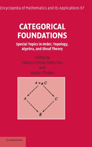 Categorical Foundations: Special Topics in Order, Topology, Algebra, and Sheaf Theory (Encyclopedia of Mathematics and i