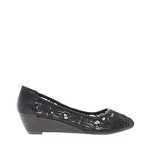 EOZY Sandalia Plana de Dedo Bohemia Flip Flop para Mujer Playa Negro Talla 36/23cm KtpcE