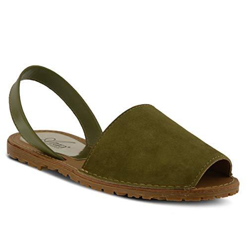 (Azura Women's Ophellia Leather, Suede Slingback Sandal)
