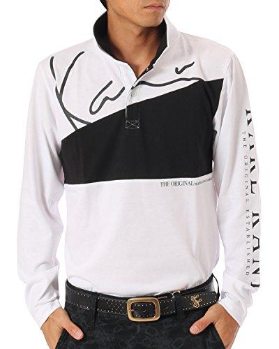 (カールカナイ ゴルフ) KarlKani GOLF ポロシャツ 長袖 USロゴ シャツ [吸汗速乾] 173KG1200 ホワイト Mサイズ