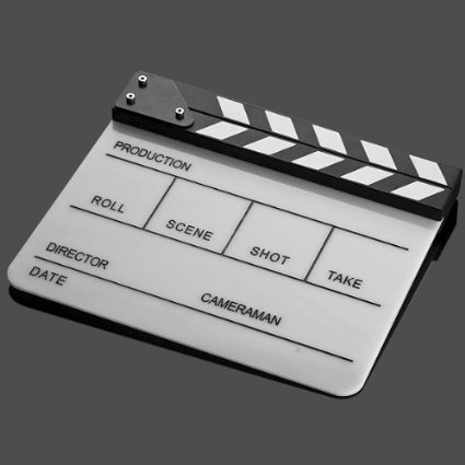 Perfect Lily Acrylic Film Clapboard Clapper Board Cut Action Scene Slate 10x12''/25x30 cm Dry Erase Director's Film Clapboard by Perfect Lily