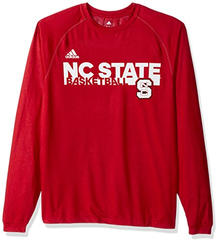 Nc Wolfpack Jersey State Football Adidas (adidas NCAA North Carolina State Wolfpack Mens Sideline Grind Climalite L/S Teesideline Grind Climalite L/S Tee, Power Red, Large)