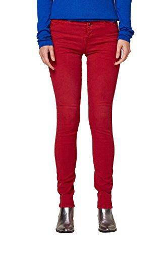 Esprit Pantalon Femme 610 Dark Rouge Red xPARPqYT