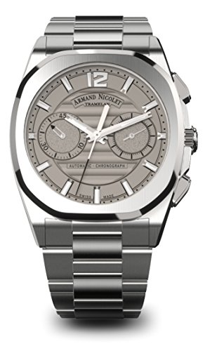 Armand Nicolet Men's J09 Collection A654AAA-GR-MA4650AA