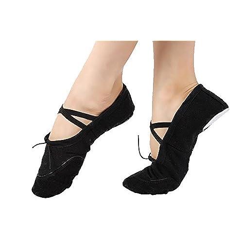 Skyrocket Ballet Canvas Dance Shoes Gymnastic Yoga Shoes Flat Split Sole Leather