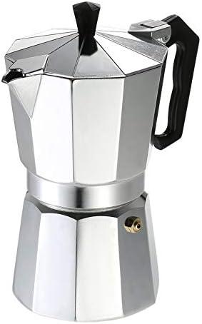 loonBonnie Cafetera de Aluminio, Cafetera de 3 Tazas / 6 Tazas / 9 Tazas / 12 Tazas, Estufa percoladora de café exprés Estufa eléctrica Mocha Pot: Amazon.es: Hogar