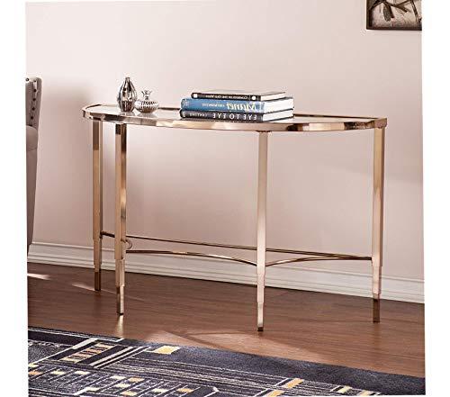 Sоuthеrn Еntеrprisеs Deluxe Premium Collection Sofa Console Table - Metallic Gold Metal Frame - Art Deco Design Decor Comfy Living Furniture