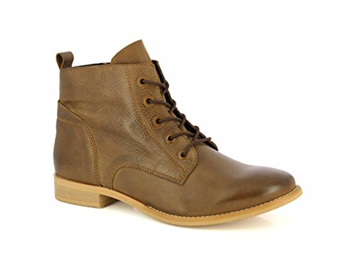 Pictures of ALBERTO TORRESI Leather Ankle BootsWomen Lace Up 7007 TAUPE 4
