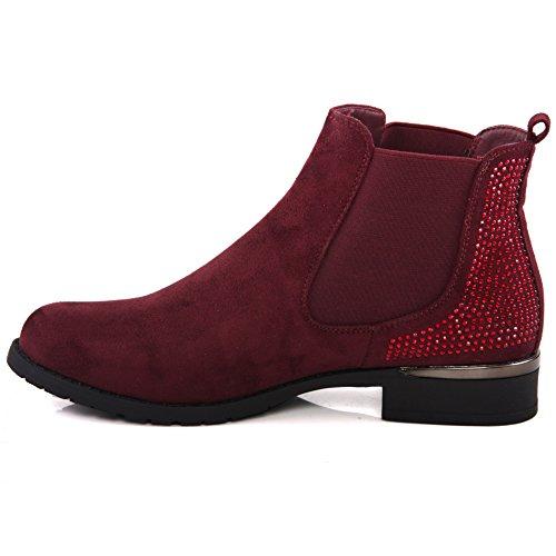 Unze Mujeres Cariona 'invierno botas de montar mxzDkKO