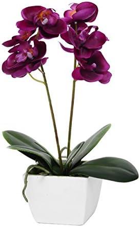 Orquídea Fucsia artificial con maceta