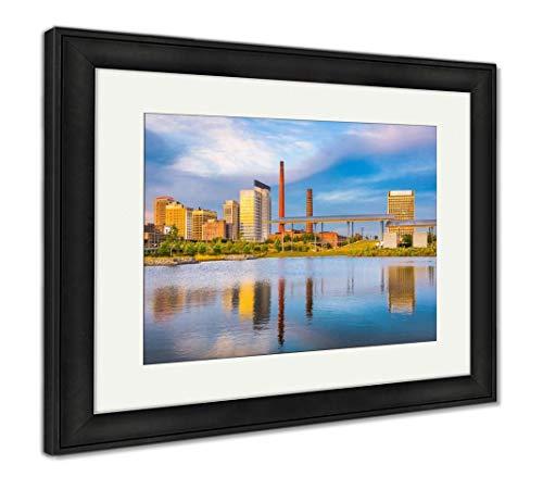 (Ashley Framed Prints Birmingham, Alabama, USA Downtown City Skyline, Wall Art Home Decoration, Color, 30x35 (Frame Size), Black Frame, AG32675603)