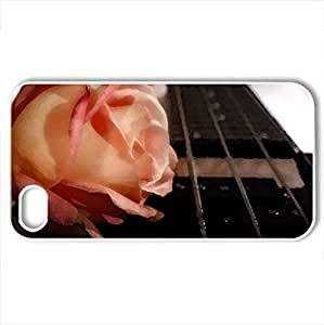 Very Beautiful And Plain Rose - Case Cover for iPhone 4 and 4s (Flowers Series, Watercolor style, White)