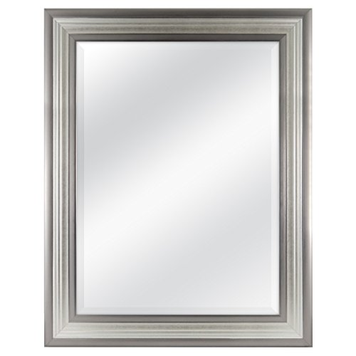 MCS 18x24 Inch Ridged Mirror, 23x29 Inch Overall Size, Silver - Pictures Bathroom Large Of Mirrors