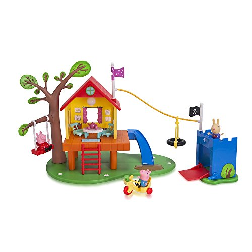 Nick Jr. Peppa Pigs Treehouse and Georges Fort Playset -