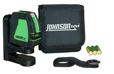 Johnson Level & Tool 40-6656 Self-Leveling Cross-Line Laser Green Beam