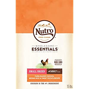 NUTRO WHOLESOME ESSENTIALS Natural Adult Small Breed Dry Dog Food Farm-Raised Chicken, Brown Rice & Sweet Potato Recipe, 15 lb. Bag 33
