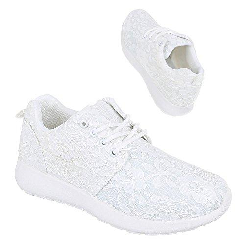 Ital-Design - Zapatillas de Material Sintético para mujer Blanco - blanco