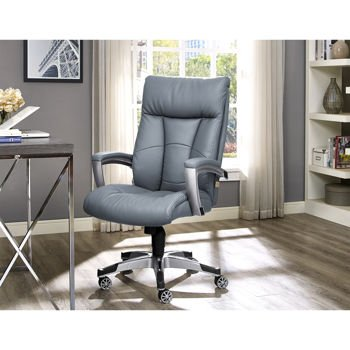 Alain Office Grey Bonded Leather Chair With Sealy Posturepedic Memory Foam    Buy Online In UAE. | Wireless Phone Accessory Products In The UAE   See  Prices, ...