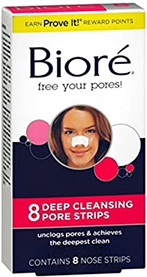 Biore Deep Cleansing Pore Strips Nose 8 Each