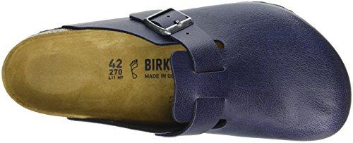 Birkenstock Boston Birko-Flor, Zuecos Unisex Adulto Azul - Blau (PULL UP Navy)