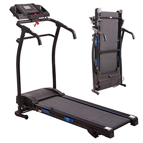 Tobbi Folding Electric Treadmill 1500W Motorized Running Machine W/LCD Display Black