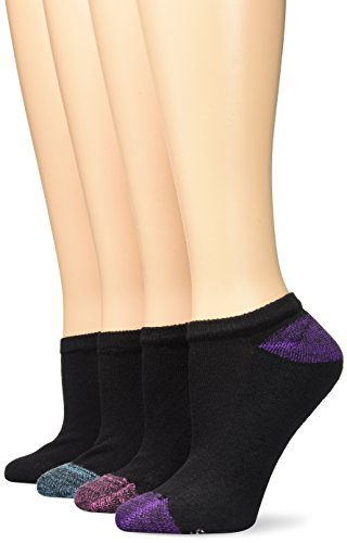 Hanes Women's 6 Pack Comfort Blend No Show Sock, Black, 9-11 (Shoe Size 5-9)