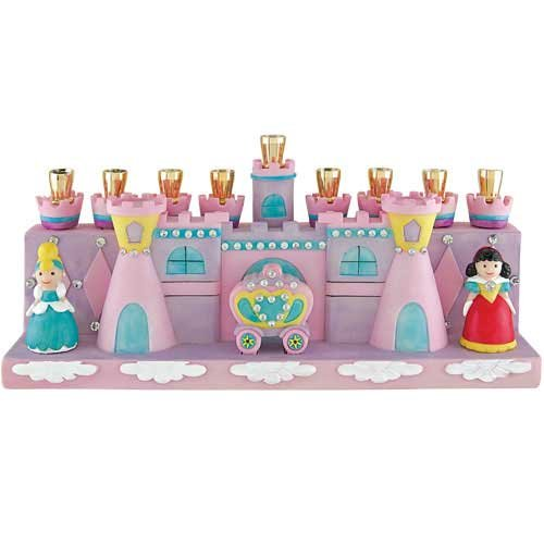 The Princess and Castle (Pink Menorah)