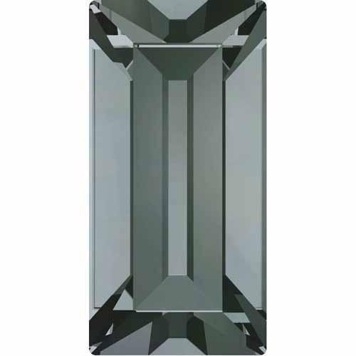 4501 Swarovski Fancy Stones Baguette 7x3mm | Black Diamond | 7x3mm - Pack of 10 | Small & Wholesale ()