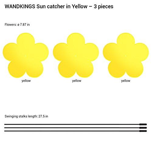 edea977fcf1a WANDKINGS suncatcher flowers in YELLOW, 3 pieces a set, each 20 cm in  diameter
