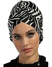 Bufanda de algodón turbante instantáneo para la cabeza, ligera, para el cáncer, quimioterapia