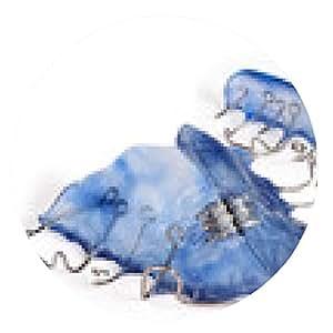 alfombrilla de ratón placa de expansión azul, aparatos ortopédicos - ronda - 20cm