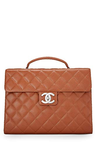- CHANEL Brown Quilted Caviar Briefcase (Pre-Owned)