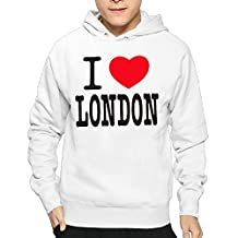 Men's I Love London I Love You This Much Vintage Hoodies