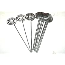 """30/Pack Place Card Holder Pick,Swirl Wire Note Clip Holder Metal Silver 5"""""""