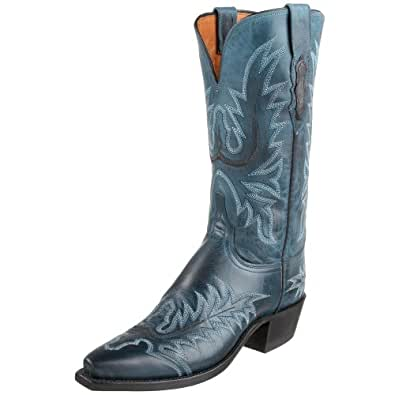 1883 by Lucchese Women's N8668 5/4 Western Boot,Ocean Blue Burnish,6 B(M)US