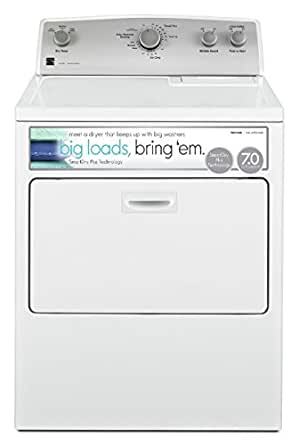 Kenmore 65132 7.0 cu. ft. Electric Dryer with SmartDry Plus Technology in White, includes delivery and hookup