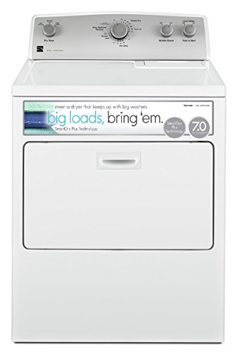 Kenmore 65132 7.0 cu. ft. Electric Dryer with SmartDry Plus Technology in White, includes delivery and hookup (Available in select cities only) by Kenmore