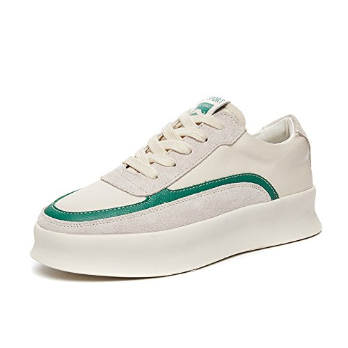 36 Thick Vert amp; tudiante G Chaussures Shoes Fille Chaussures Ngrdx White EvUZqxZw