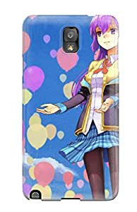 Faddish Phone Skirtspurplepantyhose Air Balloons Purple Sleeves Original Characters Sky Case For Galaxy Note 3 / Perfect Case Cover
